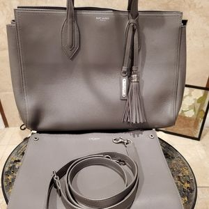 💯% Authentic Yves Saint Laurent 2 Way Tote - Grey